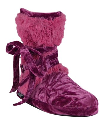 Tea Rose Faux Fur Wrap Boot - Women