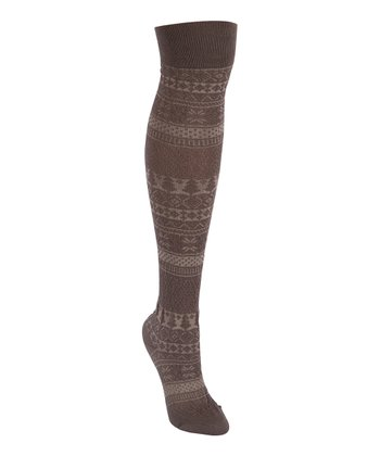 Shadow Pearl Over-The-Knee Socks - Women