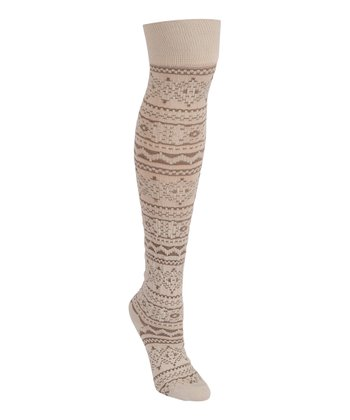 Vanilla Mocca Trish Knee-High Socks - Women
