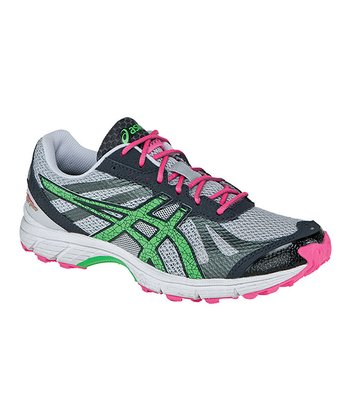 Gray & Neon Green GEL®-FujiRacer Running Shoe - Women
