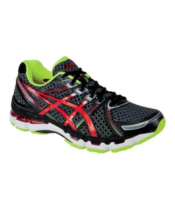 Black & Red GEL®-Kayano 19 Running Shoe - Men