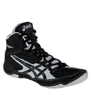 Black & Silver Cael V5.0 GS Wrestling Shoe - Boys