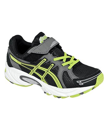 Black & Lime Pre Excite PS Running Shoe - Boys