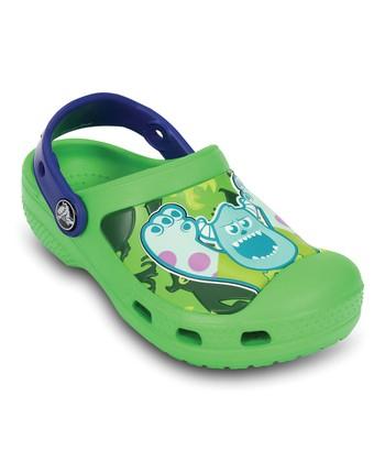 Crocs Neon Green & Cerulean Blue Creative Crocs Monsters™ Clog