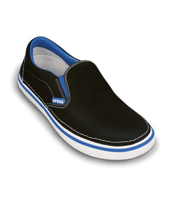 Black & Sea Blue Hover Slip-On Sneaker