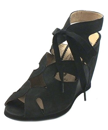 Black Leather Bizz Sandal