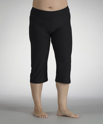 Black Capri Leggings - Plus