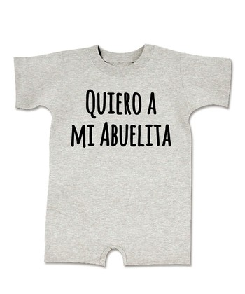 Heather Gray 'Quiero a Mi Abuelita' Romper - Infant