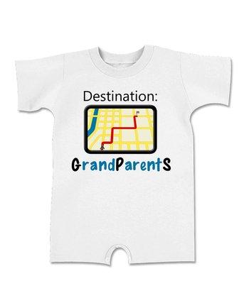 White 'Destination: Grandparents' Romper - Infant
