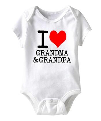 White 'I Love Grandma & Grandpa' Bodysuit - Infant
