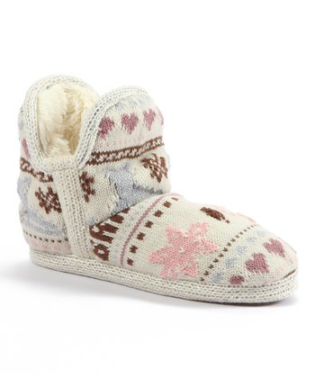 Ivory Amira Snow Day Short Slipper - Women