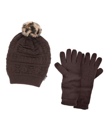 Java Beanie & Texting Gloves - Women