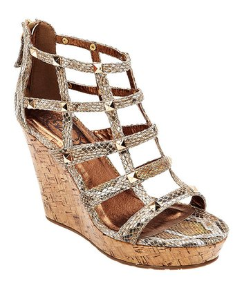 Gold Snake Morissey Wedge