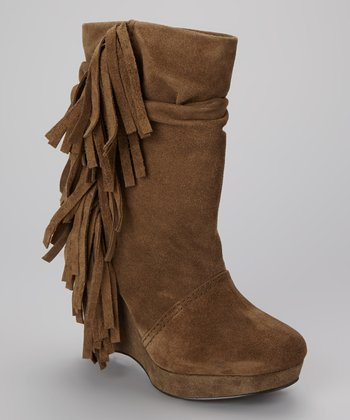 Taupe Suede Baltic Wedge Boot