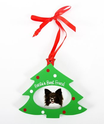 'Santa's Best Friend' Tree Picture Frame Ornament
