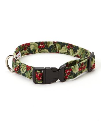 Gilded Holly Berries Side-Release Collar