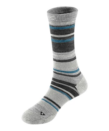 Soft Gray & Gray Siesta Lite Wool-Blend Crew Socks - Women