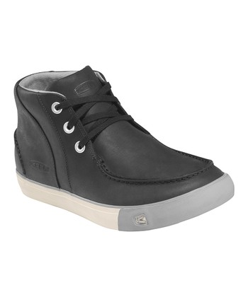 Black & Drizzle Timmons Leather Chukka Sneaker - Men