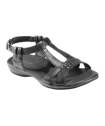 Black Emerald City Leather Sandal - Women