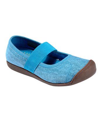 Vivid Blue Sienna Canvas Mary Jane - Women