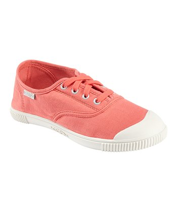 Hot Coral Maderas Oxford Slip-On Sneaker - Women