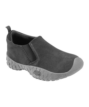 Black Suede Rintin Slip-On Shoe - Kids