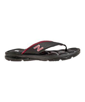Black & Red Rev Plush 20 Flip-Flop - Men