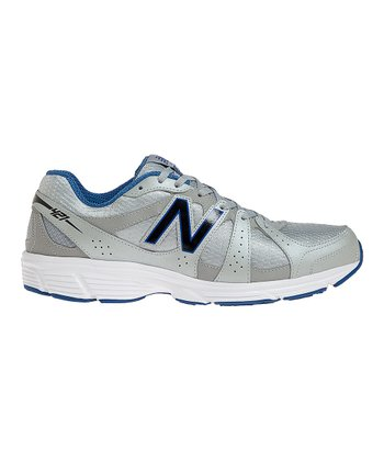 Silver & Blue 421 Running Shoe - Men