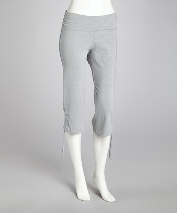 Grey Lightweight Capri Pants - Women