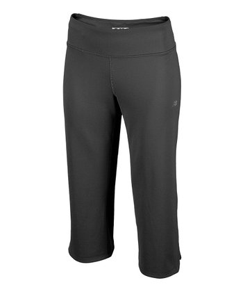 Black Fitness Capri Pants - Women