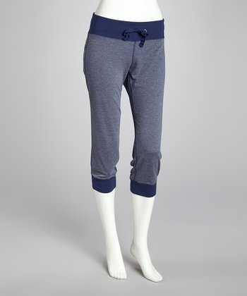 Blue Fashion Capri Pants - Women