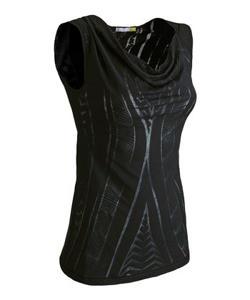 Black Fusion Sleeveless Top - Women