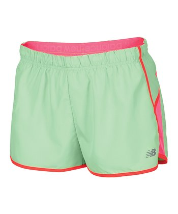 Pink & Green Momentum Shorts - Women