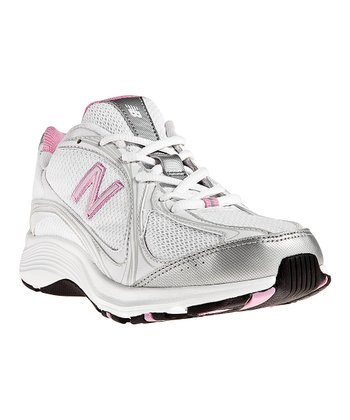 Silver & Pink WW496 Walking Shoe - Women