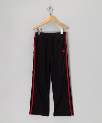 Black & Red Track Pants - Toddler & Boys