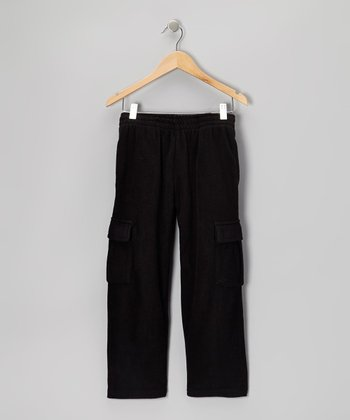 Black Pocket Track Pants - Toddler & Boys
