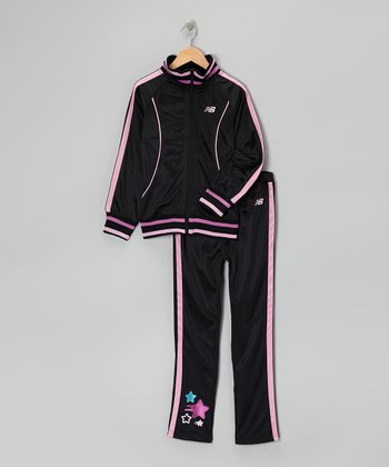 Fuchsia Track Jacket & Track Pants - Girls