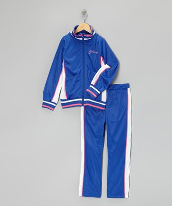 Blue Track Jacket & Track Pants - Girls