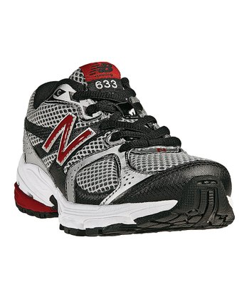 Silver & Black 633 Running Shoe