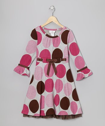 Pink Polka Dot Dress - Girls