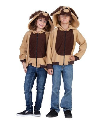 Brown & Tan Devin the Dog Hoodie - Kids