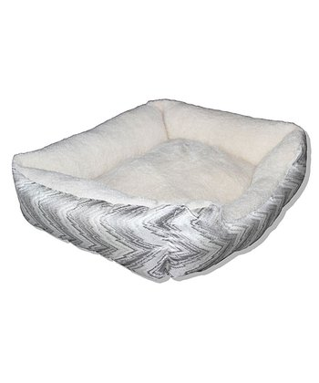 Gray Wave Cuddler Pet Bed