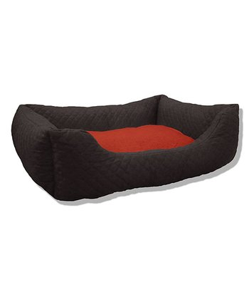 Pitch & Crimson Quilted Cuddler Pet Bed