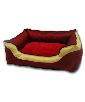 Burgundy & Gold Sherwood Cuddler Pet Bed