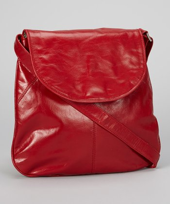 Red Flap Crossbody Bag