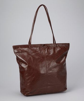 Brown North South Tote