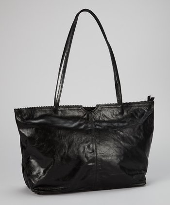 Black East West Tote