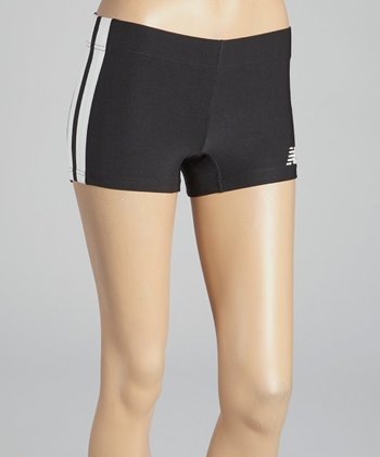 Caviar Black & White Baseline Hot Shorts - Women