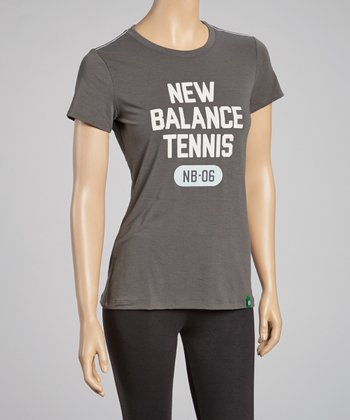 Gray 'New Balance Tennis' Tee - Women