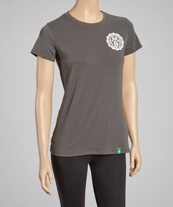 Forest Green Tennis Medallion Tee - Women
